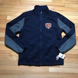 NWT NFL CHICAGO BEARS ZIP-UP THERMAL JACKET LARGE